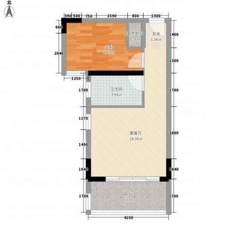 颐景华苑1室1厅1卫0厨45.00㎡户型图
