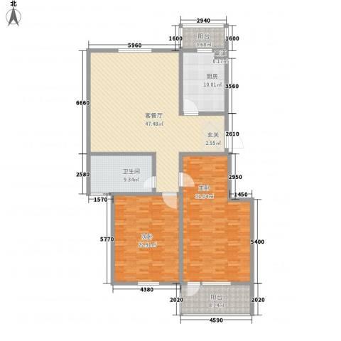 瘦西湖新苑2室1厅1卫1厨185.00㎡户型图