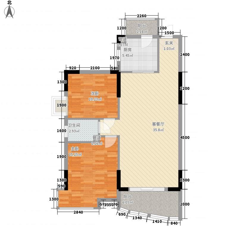 佳怡花园8.00㎡E1栋、E2栋01、02户型2室2厅1卫
