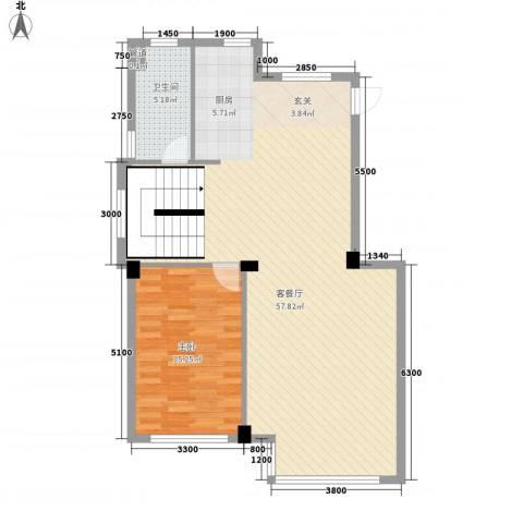 圣罗伦斯1室1厅1卫0厨85.41㎡户型图