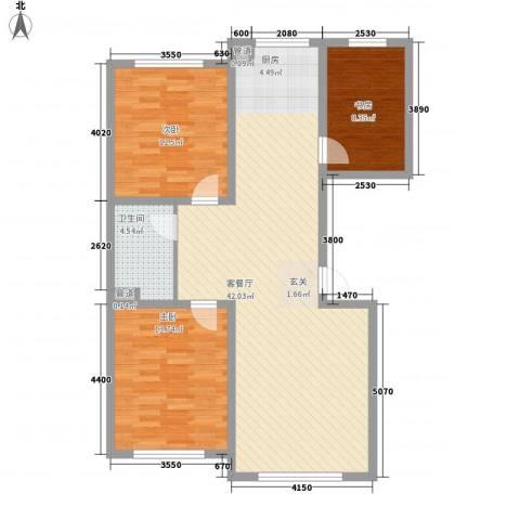 龙泰富苑3室1厅1卫0厨115.00㎡户型图