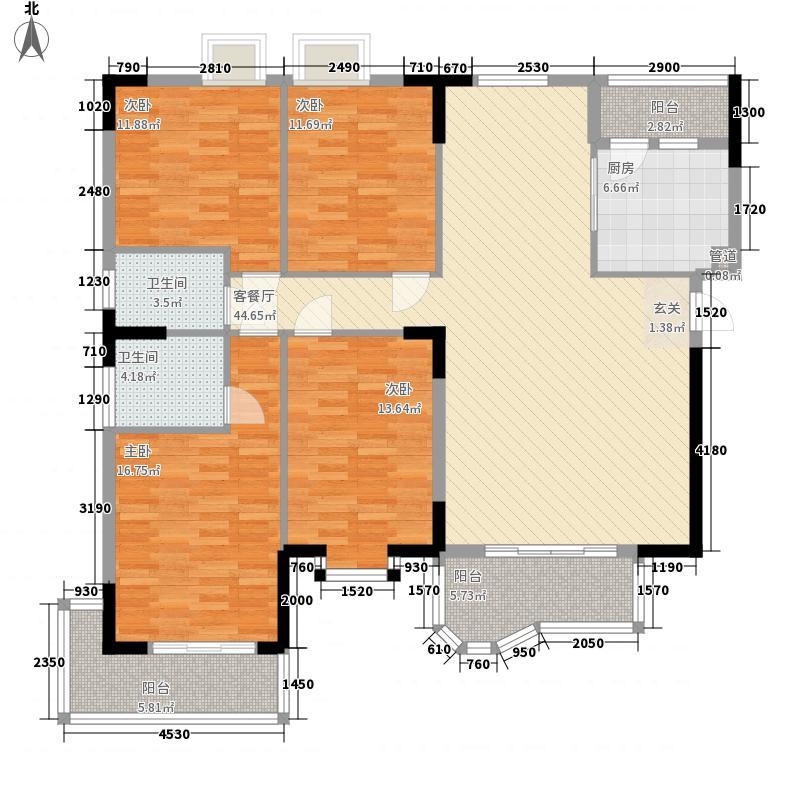佳怡花园158.30㎡E1、E2栋04、03户型4室2厅2卫