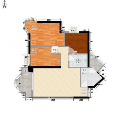 都市阳光名苑3室1厅1卫1厨101.00㎡户型图