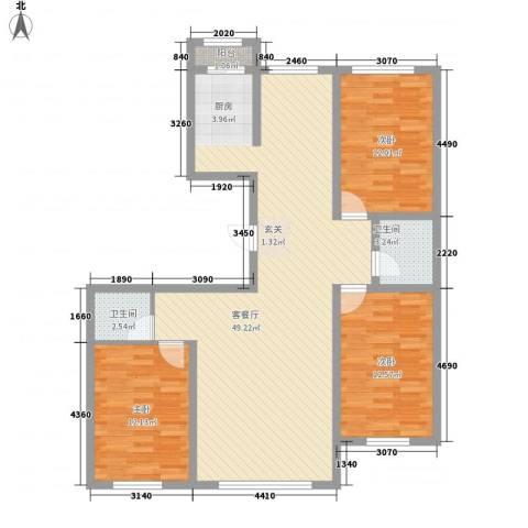龙泰富苑3室1厅2卫0厨131.00㎡户型图