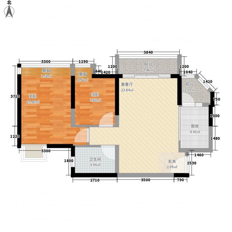 建大五8.00㎡小区户型2室