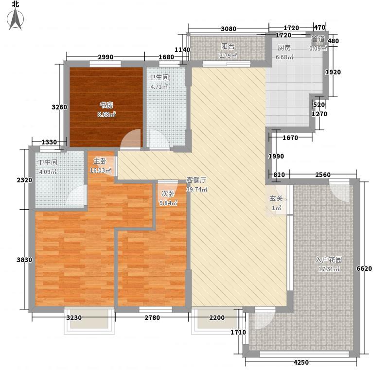 宝龙国际社区147.00㎡户型3室