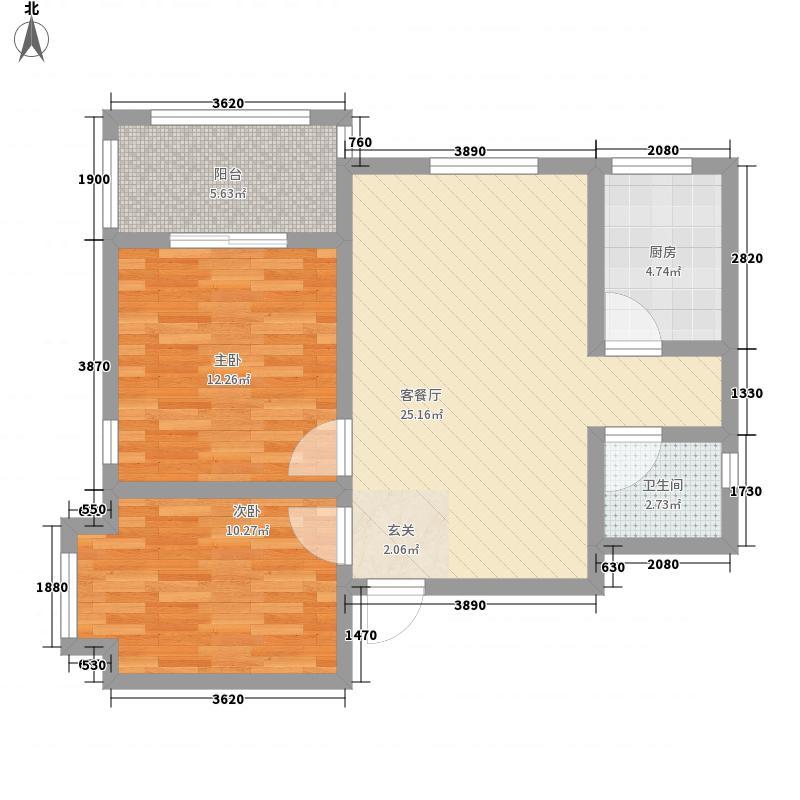 正商世纪港湾88.00㎡户型2室