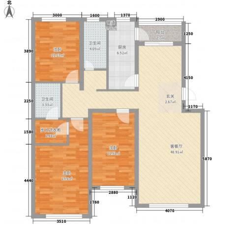 咱家3室1厅2卫1厨133.00㎡户型图