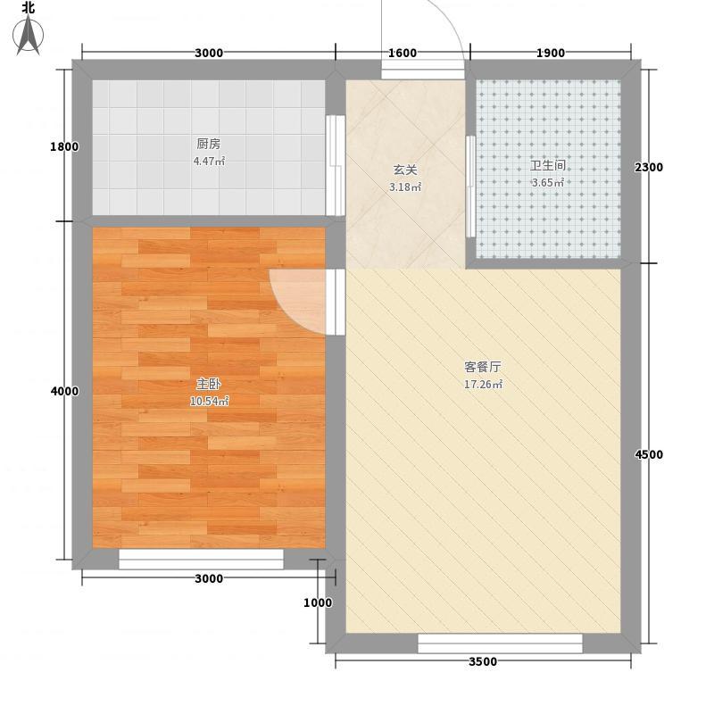 高格蓝湾53.45㎡Z户型1室1厅1卫