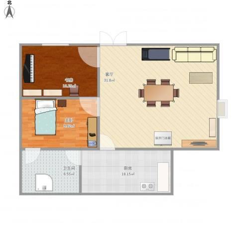 东关南里2室1厅1卫1厨91.00㎡户型图