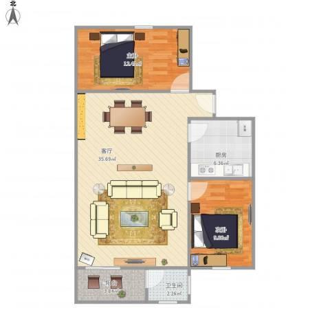 金海花园金海阁10072室1厅1卫1厨94.00㎡户型图