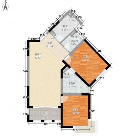 尚海湾豪庭2室1厅2卫1厨116.00㎡户型图