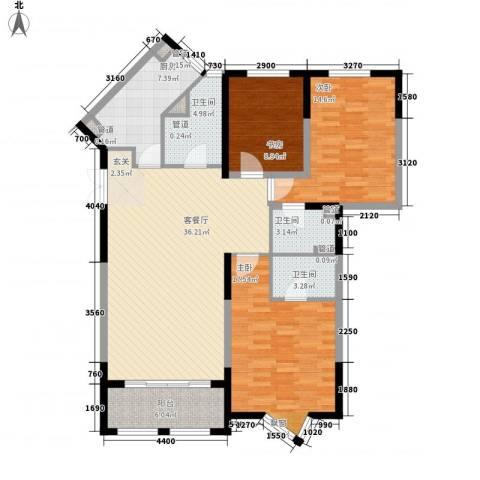 尚海湾豪庭3室1厅3卫1厨147.00㎡户型图