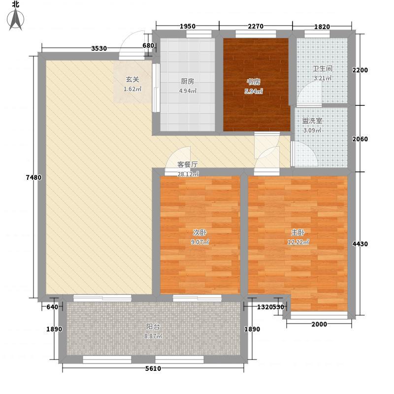 百步亭花园秀泽园14.00㎡户型3室