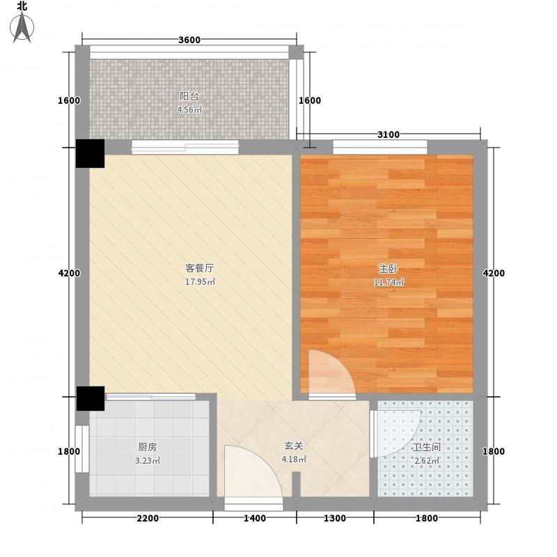 荣昌广场52.54㎡1户型