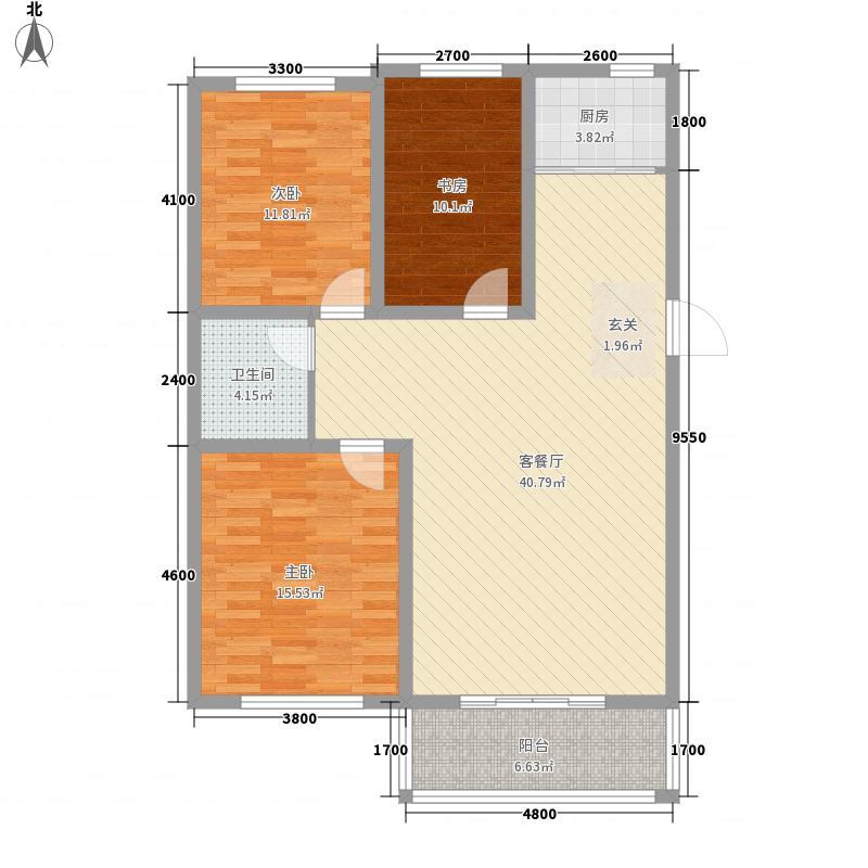 凤凰城112.70㎡凤凰城户型图F户型3室2厅1卫户型3室2厅1卫