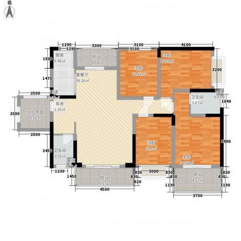 美佳华首誉4室1厅2卫1厨133.00㎡户型图