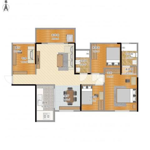 龙光海悦华庭2室1厅2卫1厨111.00㎡户型图