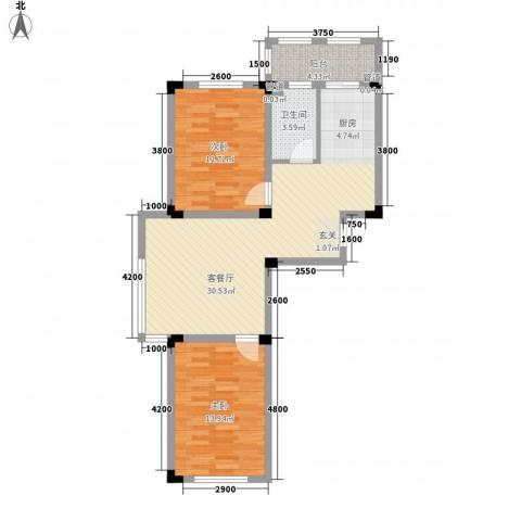 丽晶公馆2室1厅1卫0厨93.00㎡户型图