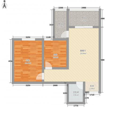 蔺高佳苑2室1厅1卫0厨83.00㎡户型图