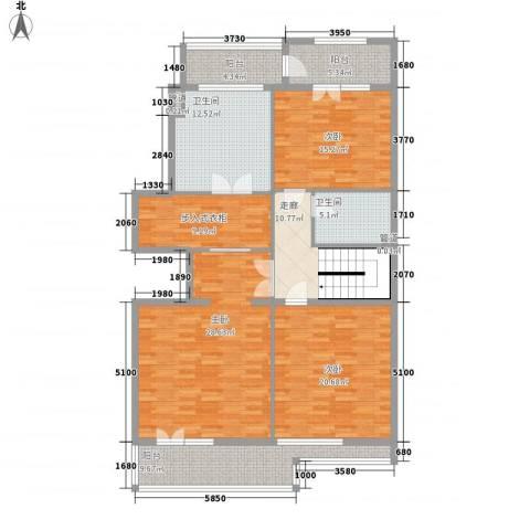 中环新天地3室0厅2卫0厨172.00㎡户型图