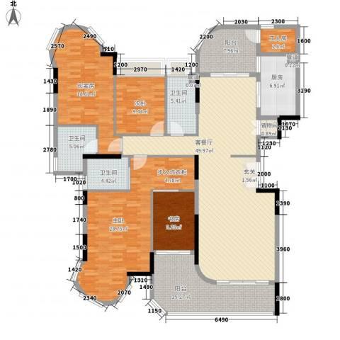 珠光御景湾3室1厅3卫1厨163.95㎡户型图