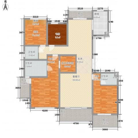 �山�秀4室1厅3卫1厨183.00㎡户型图