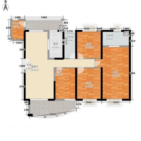 中海金沙熙岸4室1厅2卫1厨147.32㎡户型图