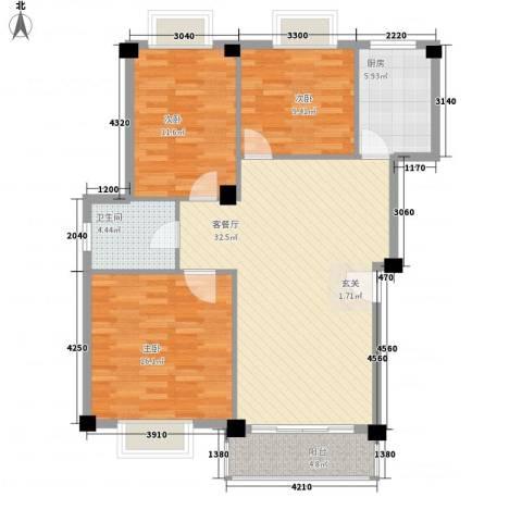 太湖西溪里3室1厅1卫1厨190.00㎡户型图