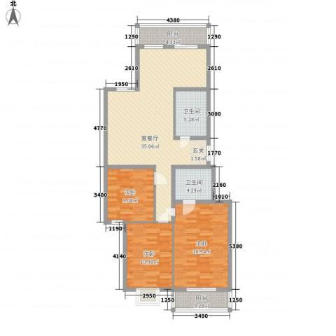 御公馆3室1厅2卫0厨128.00㎡户型图