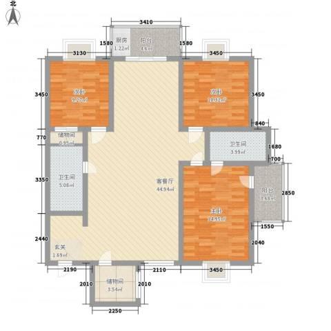 御公馆3室1厅2卫0厨145.00㎡户型图