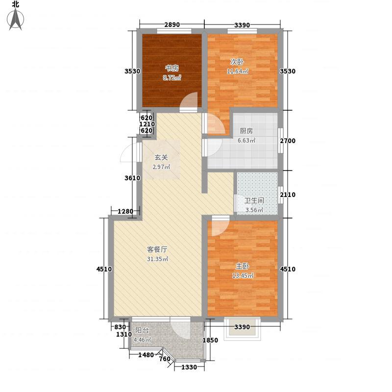 吴中印象114.36㎡19C户型3室2厅1卫