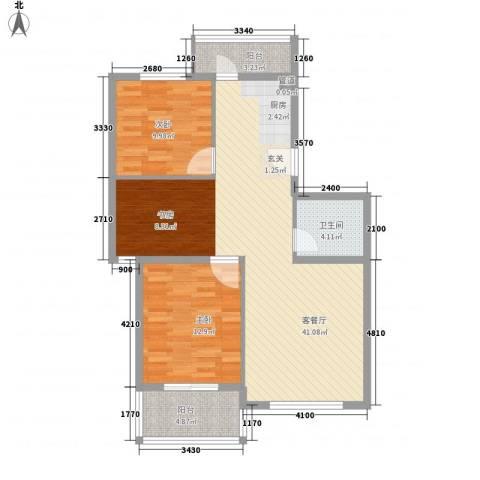 水色时光花园2室1厅1卫0厨76.22㎡户型图