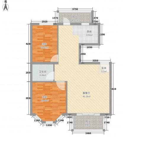 水色时光花园2室1厅1卫0厨79.83㎡户型图