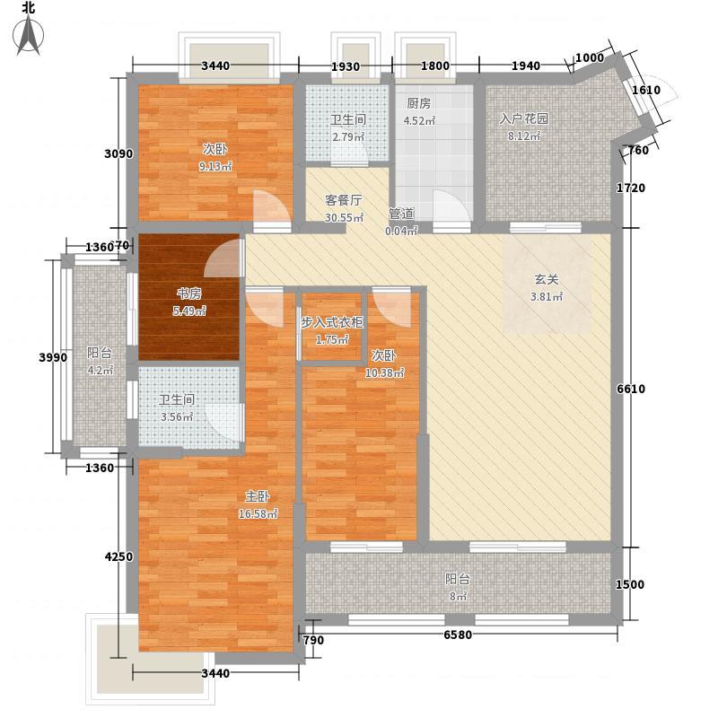融汇江山151.52㎡颐景阁D8户型4室2厅2卫