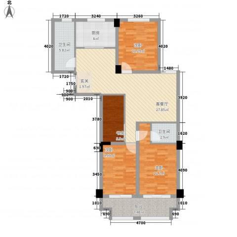 先锋银座4室1厅2卫1厨89.93㎡户型图