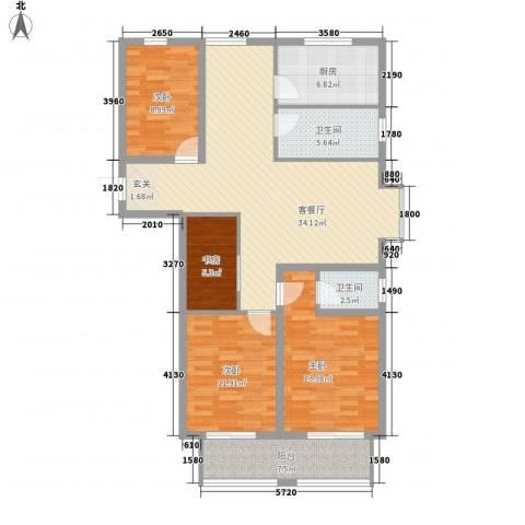 先锋银座4室1厅2卫1厨138.00㎡户型图