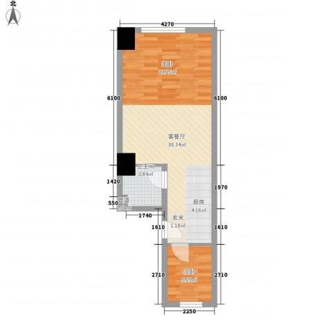 迎泽世纪城1室1厅1卫0厨38.31㎡户型图