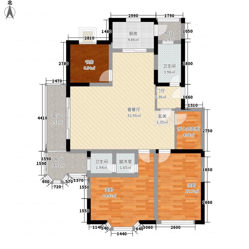 弘通漫城141.00㎡6、7#G户型3室2厅2卫