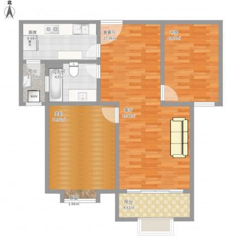 圣约翰名邸2室1厅1卫1厨100.00㎡户型图