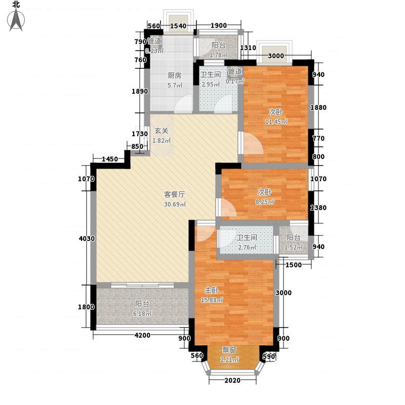 千城凤梧金沙113.75㎡D3户型3室2厅2卫1厨