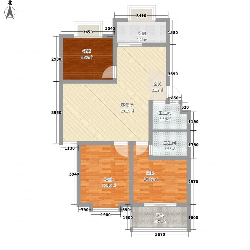 枫韵花园108.50㎡枫韵花园户型图3室2厅2卫户型10室