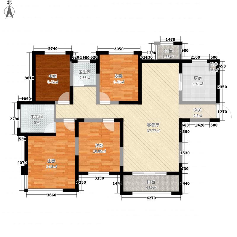 融创天鹅湖丽兹142.00㎡B1户型4室2厅2卫