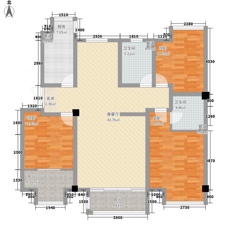 薇乐花园户型3室