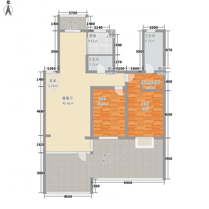 吴中印象123.24㎡二期G户型2室2厅2卫