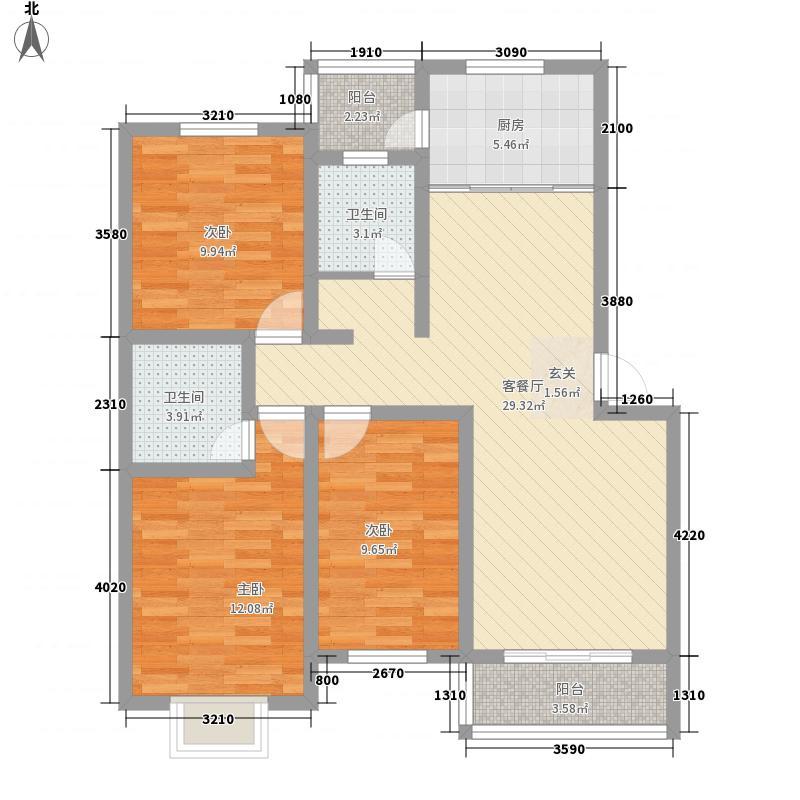 百通馨苑二区116.00㎡户型3室