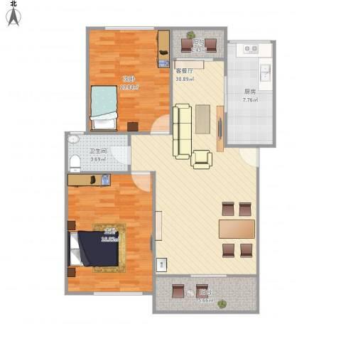 万荣小区-221-872室1厅1卫1厨109.00㎡户型图