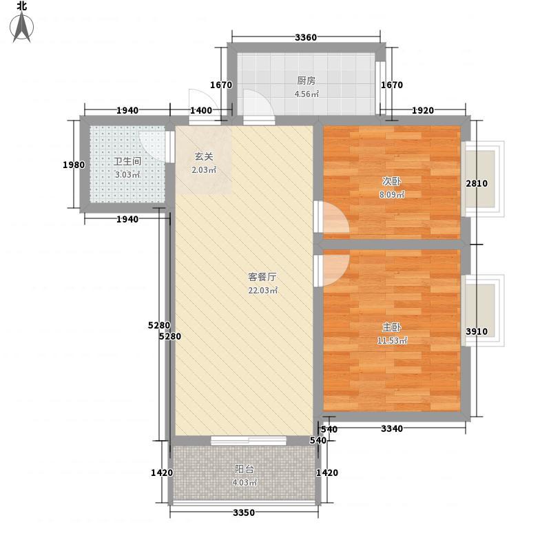 兴华景园76.00㎡户型2室