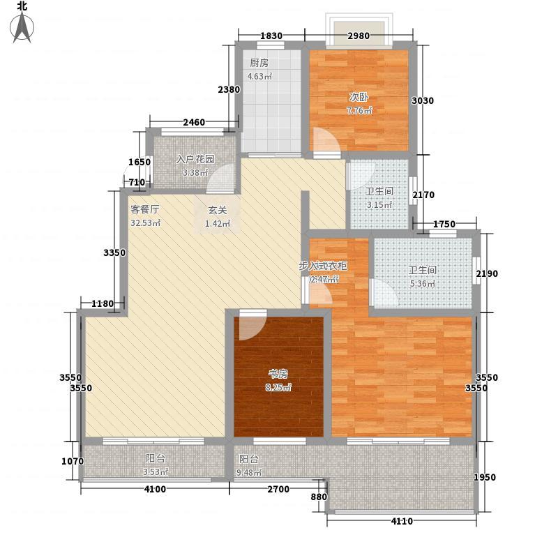 青山绿水135.00㎡户型3室2厅2卫1厨