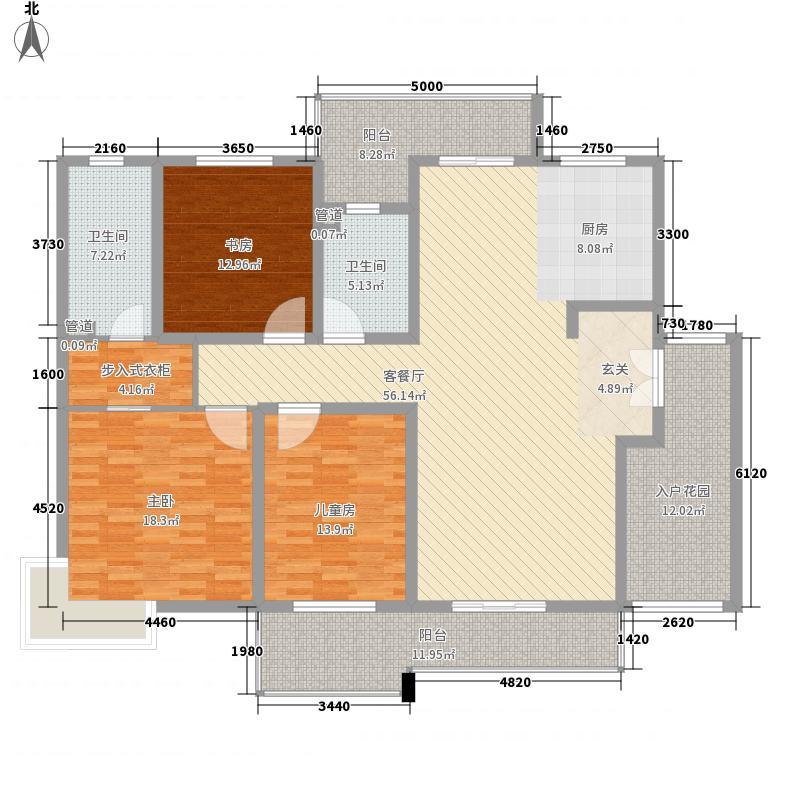 百通馨苑二区212.00㎡户型4室